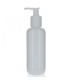 Bouteille Optima ronde en plastique blanc 250ml avec pompe de distribution - 1 pièce - Aromadis