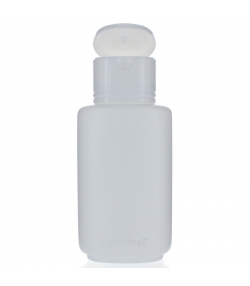 Bouteille Color ovale en plastique blanc 200ml avec bouchon à clip blanc - 1 pièce - Aromadis