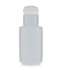 Ovale weisse Plastikflasche Color 200ml mit weissem Clip-Verschluss - 1 Stück - Aromadis