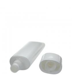 Ovale weisse Color Plastiktube 75ml mit weissem Reduzier- und Schraubverschluss - 1 Stück - Aromadis