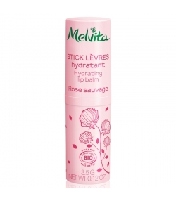 Feuchtigkeitsspendender BIO-Lippenpflegestift Rose - 3,5g - Melvita Nectar de Roses