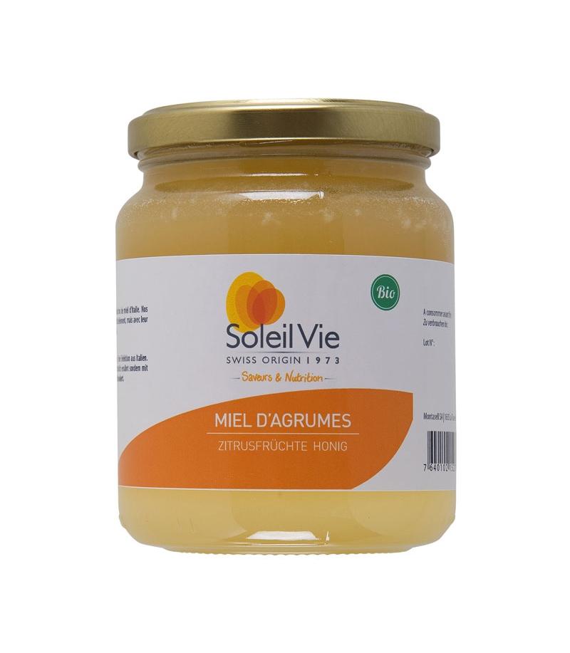 miel d 39 agrumes bio 500g soleil vie. Black Bedroom Furniture Sets. Home Design Ideas