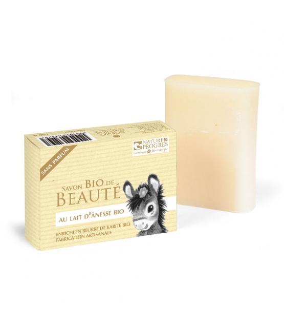 BIO-Seife mit Eselsmilch ohne Parfüm Shea Butter - 100g - Cosmo Naturel
