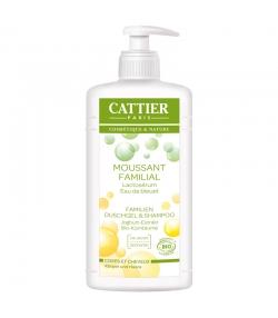 Gel douche & shampooing famille BIO lactosérum & bleuet - 500ml - Cattier
