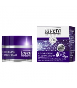 Crème de nuit énergisante 5 en 1 BIO amande douce & acide hyaluronique - 50ml - Lavera