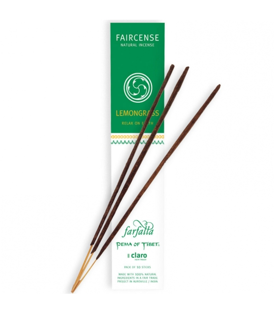 Lemongrass Relax on Earth Faircense-Räucherstäbchen - 10 Stück - Farfalla