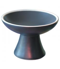 Coupe pour brûler en terre cuite vitrifiée noire - 1 pièce - Farfalla