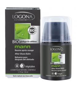 BIO-After Shave Balm Ginkgo & Coffein für Männer - 50ml - Logona Mann