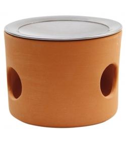 Cylindre pour brûler en terre cuite avec passoire - 1 pièce - Farfalla