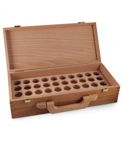 Coffre en bois avec poignée pour 40 huiles essentielles - 1 pièce - Farfalla