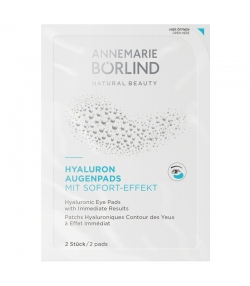 Patches hyaluroniques contour des yeux à effet immédiat naturels konjac - 2 pièces - Annemarie Börlind