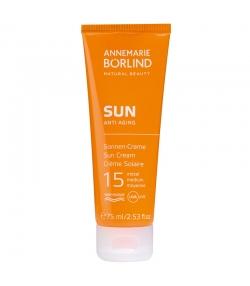 Crème solaire anti-âge BIO IP 15 argousier & panthénol - 75ml - Annemarie Börlind Sun Anti Aging