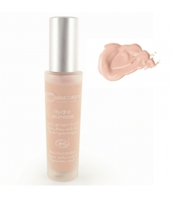 Fond de teint fluide Hydra Jeunesse BIO N°22 Beige rosé - 30ml - Couleur Caramel