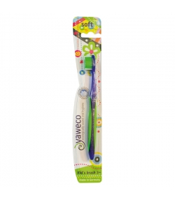 Kinderzahnbürste (ab 3 Jahren) Grün Soft Nylon Kid's - 1 Stück - Yaweco