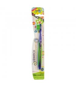 Brosse à dents enfants (dès 3 ans) Vert Soft Nylon Kid's - 1 pièce - Yaweco