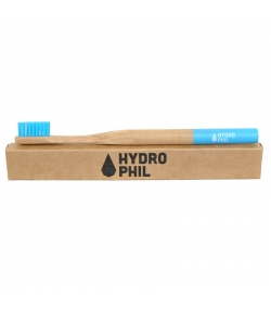 Brosse à dents en bambou Bleu Medium-Soft Nylon - 1 pièce - Hydrophil