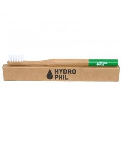 Brosse à dents en bambou Vert Medium-Soft Nylon - 1 pièce - Hydrophil