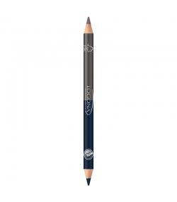 Crayon yeux duo BIO N°04 Steel grey - 1,38g - Logona