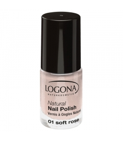 Vernis à ongles mat BIO N°01 Soft rose - 4ml - Logona