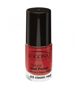 BIO-Nagellack matt N°03 Classic red - 4ml - Logona