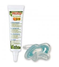 Gel gingival bébé naturel citroganix avec sucette premières dents - 15g - Nûby All Natural