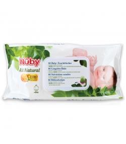 Lingettes bébé antibactériennes naturelles citroganix - 80 pièces - Nûby All Natural
