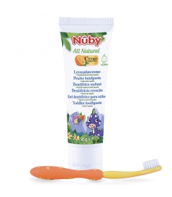Dentifrice enfant naturel citroganix avec brosse à dents - 45g - Nûby All Natural
