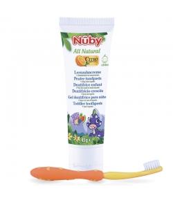 Dentifrice enfant naturel citroganix avec brosse à dents - 45g - Nûby All Natural