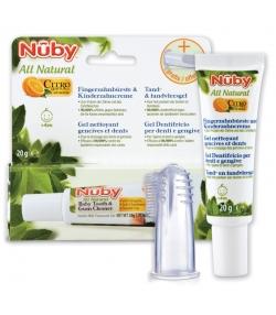 Baby natürliche Fingerzahnbürste & Zahncreme Citroganix - 20g - Nûby All Natural