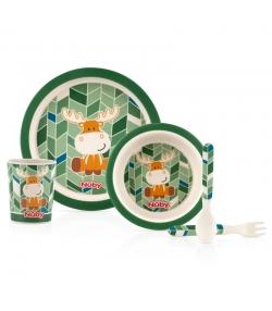 Set vaisselle élan en bambou pour enfants - Nûby