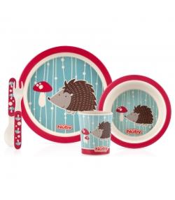 Set vaisselle hérisson en bambou pour enfants - Nûby
