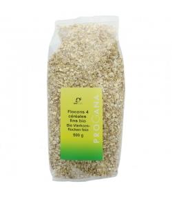 Flocons 4 céréales fins BIO - 500g - Progana