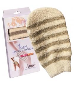 Wasch- und Peelinghandschuh aus Bio-Baumwolle & Bio-Leinen - 1 Stück - Anaé