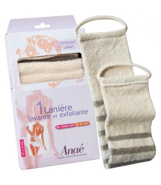 Lanière lavante & exfoliante en coton & lin BIO - 1 pièce - Anaé
