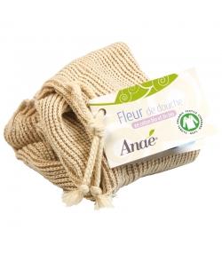 Fleur de douche en coton & lin BIO - 1 pièce - Anaé