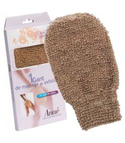 Gant de massage & exfoliant en jute & coton BIO - 1 pièce - Anaé