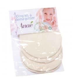 Disques à démaquiller lavables en coton BIO - 4 pièces - Anaé