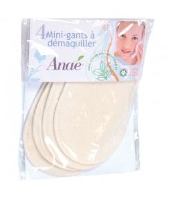 Mini gants à démaquiller lavables en coton BIO - 4 pièces - Anaé