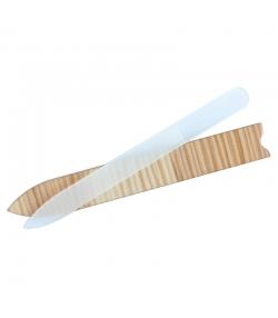 Grosse Nagelfeile aus Glas mit Holzetui - 1 Stück - Anaé