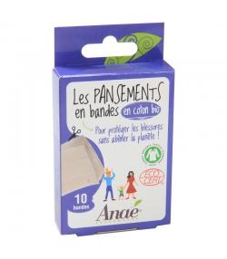 Pansements en bandes & en coton BIO - 10 pièces - Anaé