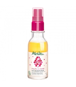 Duo repulpant éclat BIO eau florale & huile de rose - 50ml - Melvita Pulpe de Rose