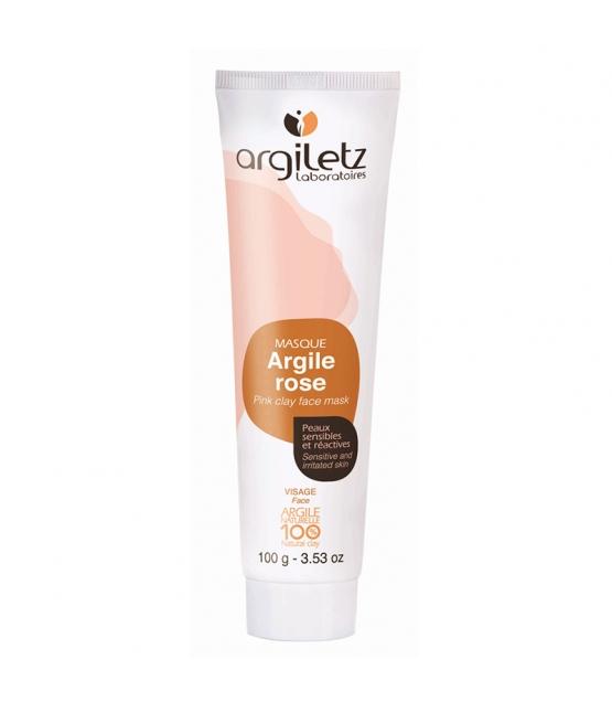 Masque prêt à l'emploi argile rose - 100g - Argiletz