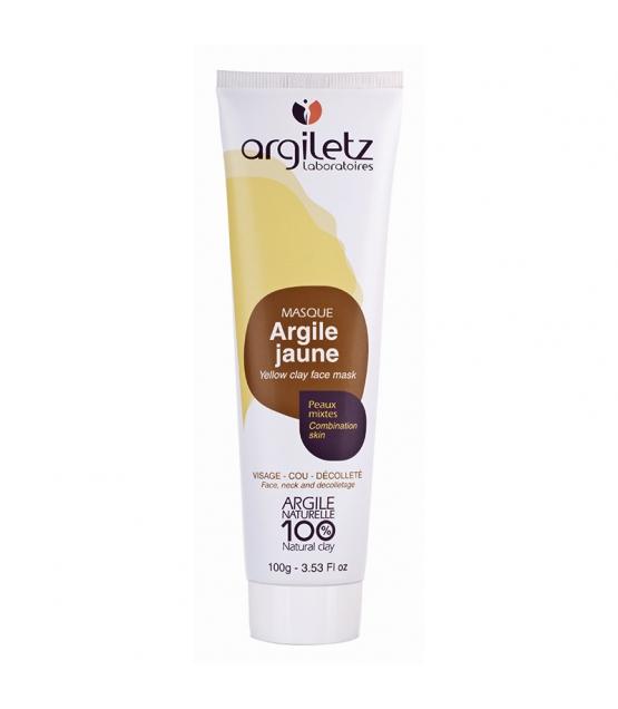 Masque prêt à l'emploi argile jaune - 100g - Argiletz