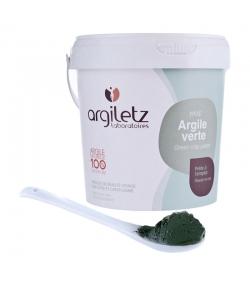Gebrauchsfertige grüne Tonerde im Topf - 1kg - Argiletz