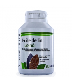 Huile de lin - 200 capsules 500mg - BIOnaturis