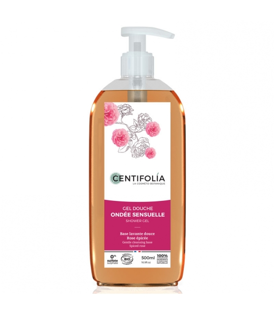 BIO-Duschgel sinnlicher Sommerregen würzige Rose - 500ml - Centifolia