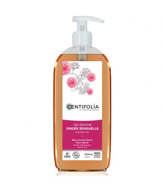 Gel douche ondée sensuelle BIO rose epicée - 500ml - Centifolia
