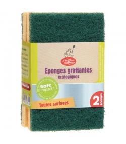 Éponges grattantes vertes écologiques - 2 pièces - La droguerie écologique