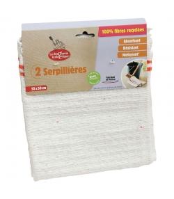 Serpillières 100% fibres recyclées - 2 pièces - La droguerie écologique