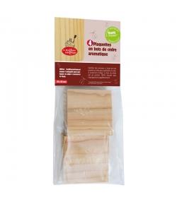Plaquettes en bois de cèdre aromatique - 4 pièces - La droguerie écologique